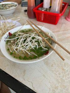 Soupe vietnamienne dans le delta du Mékong